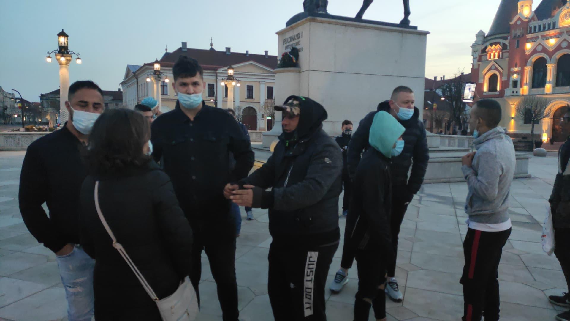 FOTO: Protest restricții covid-19 în Oradea 05.04.2021